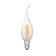 Nuevo LED Tail Flameless Candle C35 Glass Lamp Bulb 2W 4W 6W