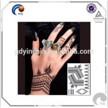 Henna Floral Padrão falso corpo humano arte mehndi estilo etiqueta do tatuagem temporária à prova d 'água