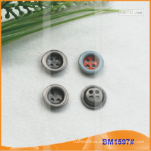 Botón de aleación de zinc y botón de metal y botón de costura de metal BM1597