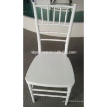 PP Stahl Stapelung Weiß Harz Metall Großhandel Chiavari Stuhl mit Kissen