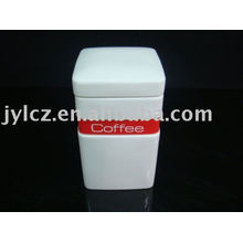 canisters with silicone band for tea,sugar or coffee, square shape