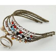 Accessoires de cheveux faits à la main à la perruque en cristal HB04
