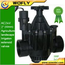 """Vanne à eau solénoïde de verrouillage d'irrigation de 12 VDC 2 """""""