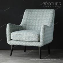 Mobiliário de sala de estar francês lazer fácil acento cadeiras