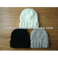 Bonnet 100% acrylique à tricot à la main