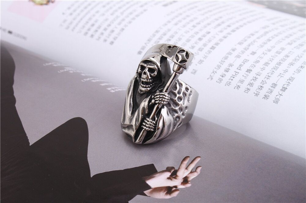 Death Skull Mens Ring Cool Ring For Men