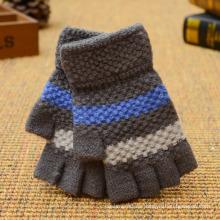 Guantes mágicos de acrílico de encargo coloridos del invierno Guante que teje de la moda sin dedos