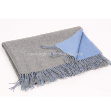 30% cashmere and 70% wool blends double face blanket