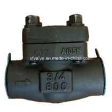 API602 Válvula de retención de pistón de extremo de rosca de acero forjado A105