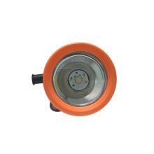 Аккумуляторная шахтерская каска светло-оранжевого цвета