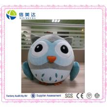 Cartoon Blue Fat Round Owl Plush Toy Pendentif en peluche