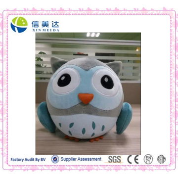 Cartoon Blue Fat Round Owl Plush Toy Plush Pendant