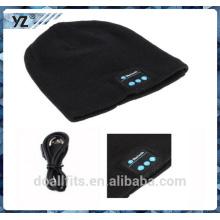 Cálido caliente 100% acylic con el casquillo barato de la gorrita tejida del bluetooth del precio hecho en China