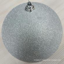 Brillant / Matt / Glitter Silver Shatterproof Christmas Balls
