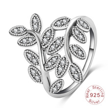 Retro Antique Silver Leaf Ladies Finger Ring (SRI0025-B)