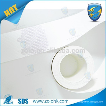 Water sensitive destructible vinyl eggshell sticker paper material, water authenticating eggshell label material