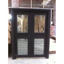 Porte en porte porte en acier inoxydable