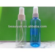 Botella clara plástica del aerosol para el uso del perfume, botella clara del aerosol del animal doméstico, botella de la niebla para el perfume