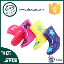 New Children's Rain Boots Kids Boys Girls Print Colors Snow Slip On Sizes:15-20 706