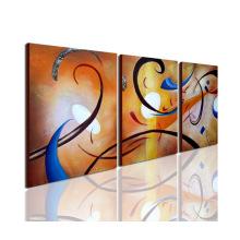 Pintura a óleo moderna de grupo artesanal em tela
