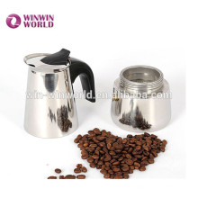 Hot Sale Stainless Steel Cup Manual Moka Coffee Pot