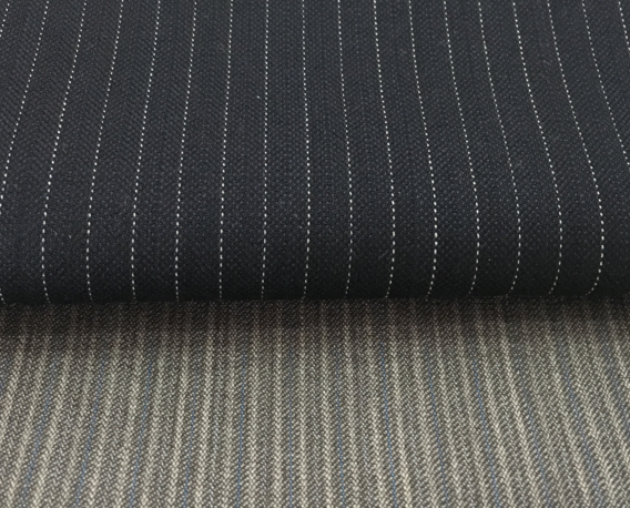 WOOL/SPANDEX WORSTED WOVEN FABRIC