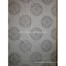 New arrival Circle Flower 100% Polyester Linen Like Jacquard Curtain fabric