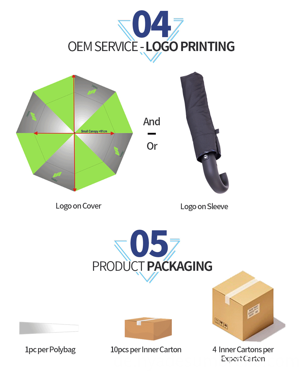Mens Folding Umbrella Black Packaging In Cartons