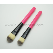 Wooden Facial Foundation Brush Synthetic Hair Mask Brush