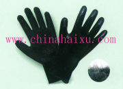 10-gauge black brushed acrylic knit shell latex coated gloves
