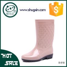 gelée en plastique pluie chaussures femmes mode chaussures de pluie