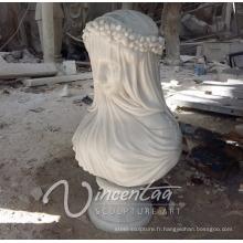 Vente chaude décor à la maison sculptures en pierre femmes en marbre buste sculptures