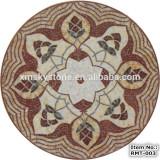 RMT-003 round high quality dark emperador brown marble mosaic tile
