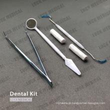 Instrumentos descartáveis para kit médico odontológico