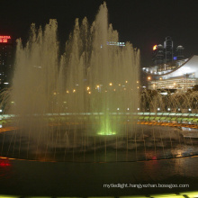 water feature with led light show