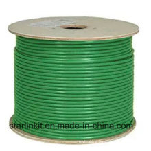 Data Center 10g 600MHz CAT6A Shielded STP LAN Cable Green