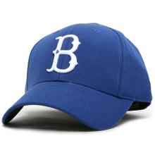 100% Baumwolle mit Stickerei Patch Blue Color Caps