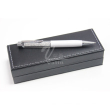 White Metal Gift Item Crystal Pen with Gift Box