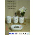 New style white ceramic bathroom accessories set 2015