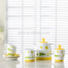 Sistema de té del juego de café del hueso de China del nuevo cabrito del diseño 2015