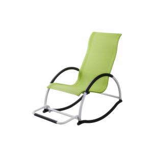 aluminum garden rocking chair