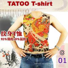 2016 heißes Verkaufsfrauen Kurzhülse Tätowierungst-shirt