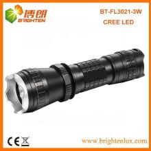 Venta de la fábrica 3mode 16340 batería accionada 3w CREE LED Q3 / Q5 pequeña táctica pequeña energía recargable Luz de la antorcha
