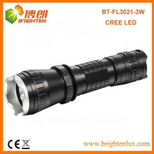 Factory Sale 3mode 16340 batterie Alimenté 3w CREE LED Q3 / Q5 Tactique Petit Mini Power Rechargeable Torch Light Prix