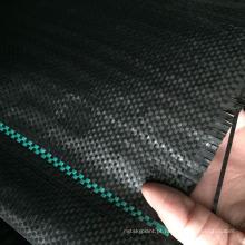 Esteira agrícola tecida PP preta / verde do controle de ervas daninhas da tela para a barreira da erva daninha