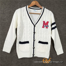 Clip Color Contrast Color Towel Embroidery Label Have Welt Pocket Sweater for Boys