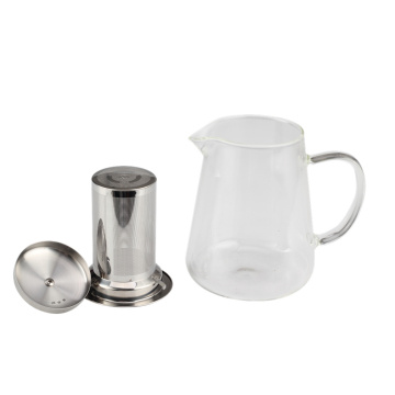 Hot SellProfessional Heat ResistantGlass Tea Pot WithInfuser