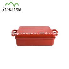 China fábrica fornecedores Cookware Shallow ferro fundido caçarola