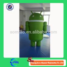 Costume de mascotte gonflable gonflable personnalisé pour mascotte androïde à vendre
