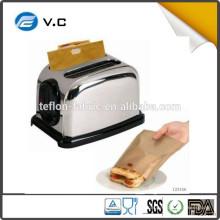 Свободный образец Высокотемпературная устойчивость PTFE non stick тостер мешок сэндвич тост мешки 158 * 180 мм
